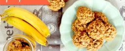Банановые печенья с орехами